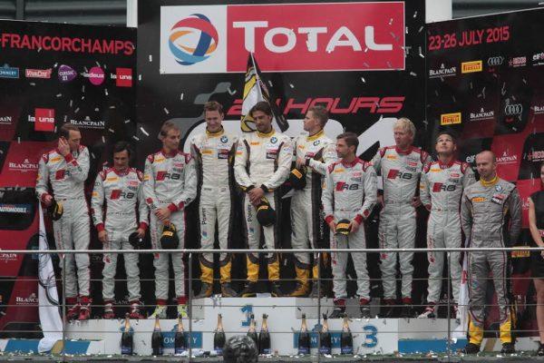 24-HEURES-DE-SPA-2015-PREMIER-podium-pour-la-BMW-Z4-de-chez-MARC-VDS- Victorieuse le dimanche 26 juillet -Photo : Georges-.