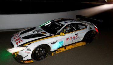 24 HEURES de SPA 2016 - La BMW M6 GT3 du Team ROWE en tête à la tomvbée de la nuit Photo Dany DELIEN