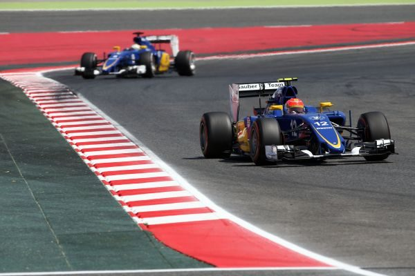 F1 2015 BARCELONE Les SAUBER FERRARI.