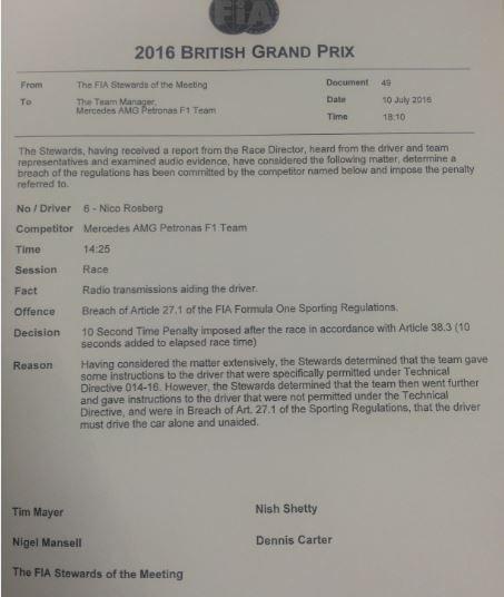 F1-2016-BRITISH-GP-Le-communique-de-la-FIA-annonçant-la-pénalité-infligée-à-NICO-ROSBERG-le-10-juillet.j