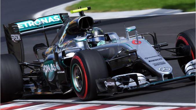 F1 2016  BUDAPEST - La MERCEDES W07 de NICO ROSBERG