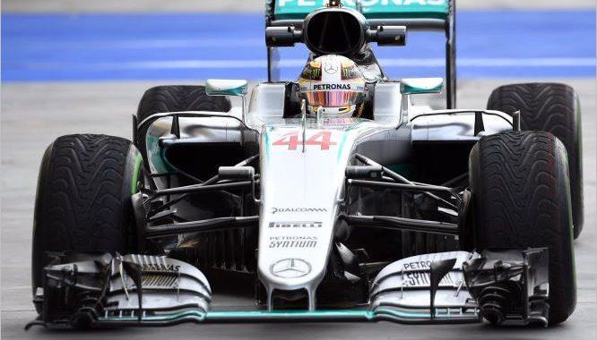 F1 2016  BUDAPEST - La MERCEDES de LEWIS HAMILTON