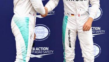 F1-2016-HAMILTON et ROSBERG se congratulent
