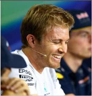 F1 2016 HOCKENHEIM La joie de Nico ROSBERG toujours en tete lors de la seconde session des essais libres