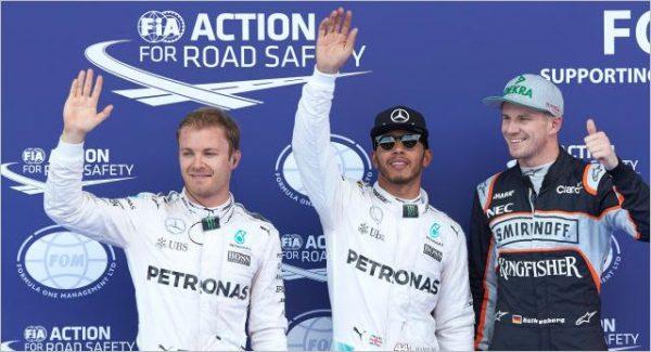 F1 2016 RED BULL RING Les trois premiers des qualifications samedi 2 juillet.