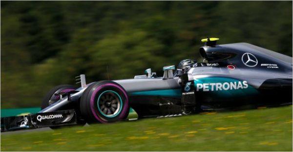 F1 2016 RED BULL RING NICO ROSBERG Pénalosé pour le chzangement de voite sur sa MERCEDES au GRAND PRIX D'AUTRICHE.