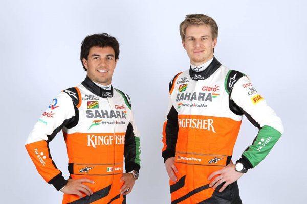 F1-FORCE-INDIA-Sergio-PEREZ-et-Nico-HULKENBERG