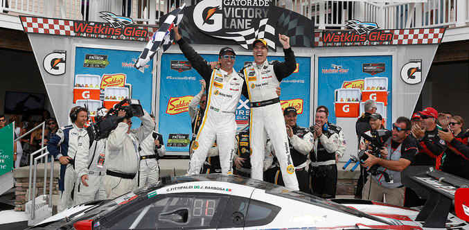 IMSA WEATHER 2016 WATKINS GLEN  BARBOSA FITTIPALDI Les vainqueurs