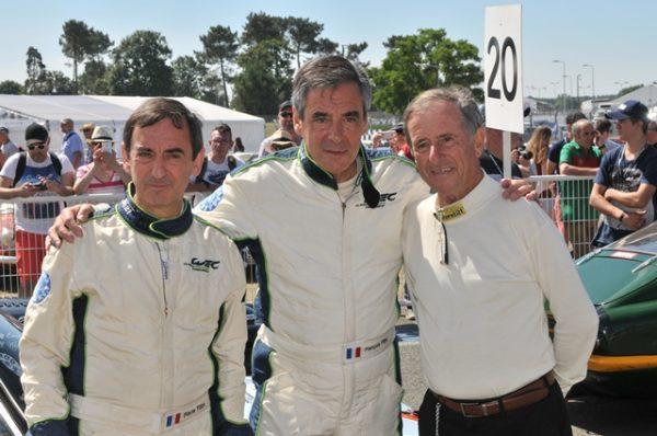 Pierre & François Fillon avec Jean Ragnotti Le Mans Classic 2016