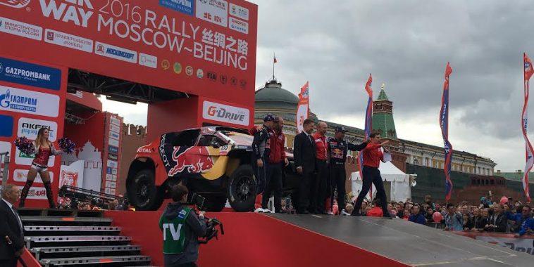 SILK WAY RALLY 2016-La PEUGEOT 2008-DKT 1ére sur le podium place Rouge  a Moscou