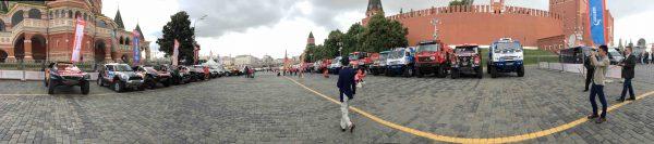 SILK WAY RALLY 2016 -Le parc fermé devant la Place Rouge aux pieds de Ste BASILE