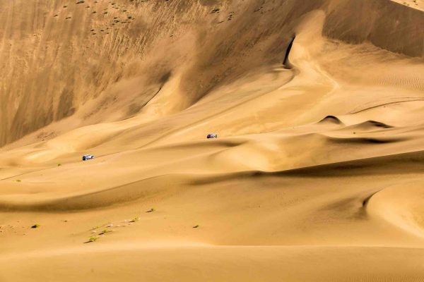 SILK-WAY-RALLY-2016-PEUGEOT-et-MINI-dans-les-dunes-entre-ALASHAN-et WUHAI
