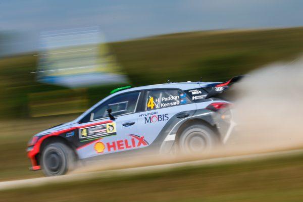 WRC 2016 POLOGNE La HYUNDAI I20WRC de HAYDEN PADDON.