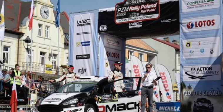 WRC 2016  POLOGNE  OTT TANAK Leader au soir de la 1ére etape