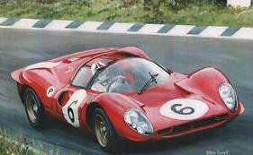 CHRIS-AMON-en-1967-au-volant-de-la-FERRARI-330-P4.
