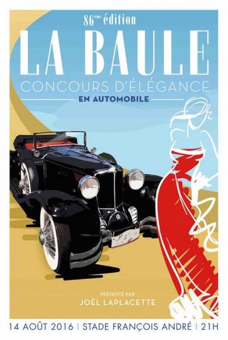 Concours de La Baule - L'affiche du Concours d'élégance en Automobiles