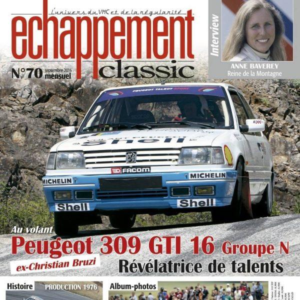ECHAPPEMENT CLASSIC de SEPTEMBRE 20216 N°70