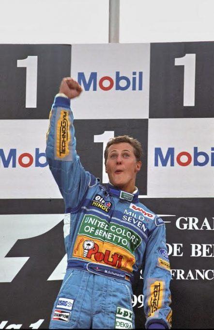 F1-1992-1ére-victoire-en-GP-le-30-aout-pour-Michael-Schumacher-au-GP-de-BELGIQUE-Photo-Manfred-GIET.