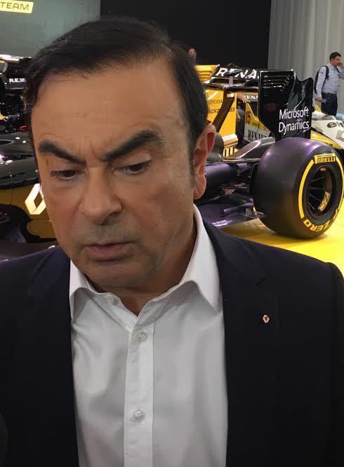 F1 2016 Présentation Equipe RENAULT F1 - Carlos GHOSN Président du Groupe RENAULT.