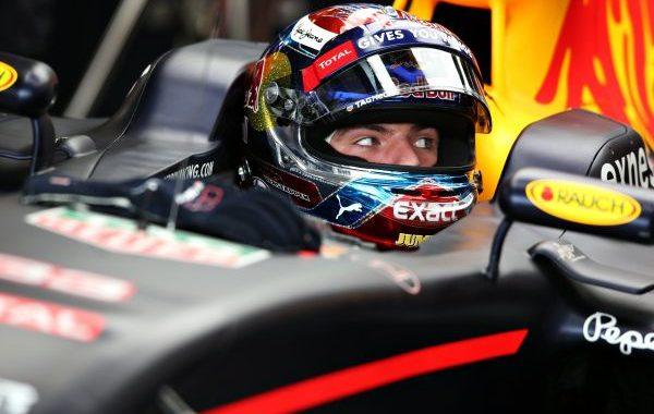 F1 2016  SPA - MAX VERSTAPPEN le pilote RED BULL le plus rapide vendredi aprés- midi 25 aout de la seconde session