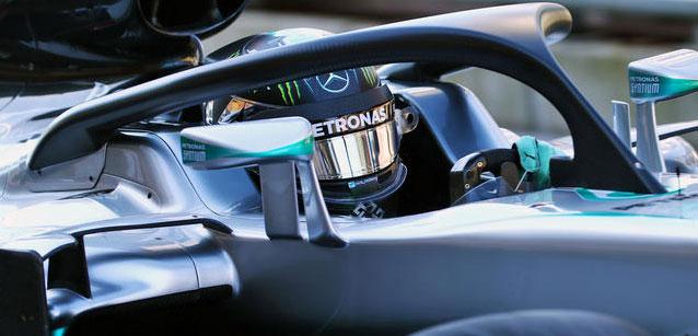 F1 2016  SPA   NICO ROSBERG teste le halo de protrexction xce vendredi 25 aout lors des 1ere essais libres a Francorchamps