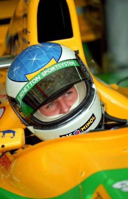 F1-Michael-Schumacher-en-1991-lors-de-son-premier-GP-au-volant-de-la-Benetton-à-Monza-©-Manfred-GIET