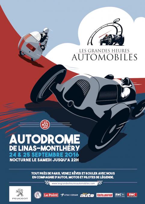LES GRANDES HEURES DE L'AUTOMOBILE 2016 - Affiche