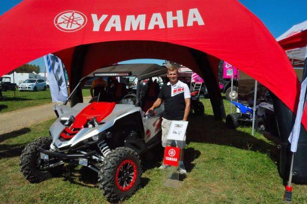 MONDIAL DE QUAD DE PONT DE VAUX 2016 - Joël Bontoux 5 fois vainqueur à Pont de VAUX présente la nouveauté sportive de Yamaha