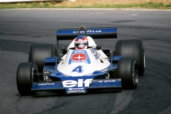 Patrick Depailler au GP ANGLETERRE 1978 avec la TYRRELL.