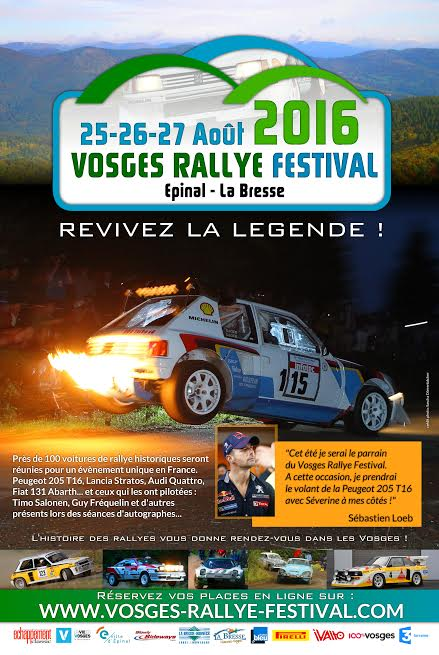 VOSGES RALLY HISTORIC 2016 Affiche