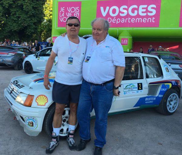 VOSGES RALLYE FESTIVAL 2016 -TIMO SALONEN et GILLES GAIGNAULT - EPINAL Jeudi 25 aout.
