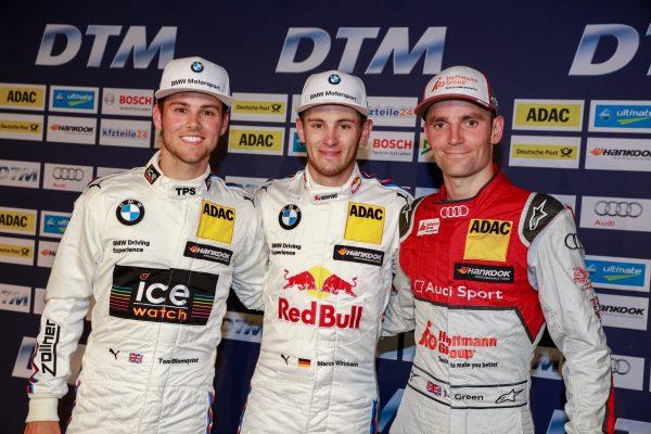 DTM 2016 NURBURGRING -1ére ciurse le 10 Septembre- Marco Wittmann Team RMG BMW M4 DTM- Tom Blomqvist Team RBM, BMW M4 DTM et Jamie Green Audi Sport Team Rosberg, Audi RS5 DTM.j