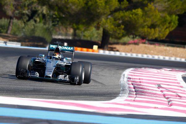 F1 2016 PAUL RICARD - Test pneumatiques PIRELLI 2017 avec l'équipe MERCEDES et Pascal WEHRLEIN le 8 Septembre.