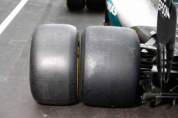 F1 2016 PAUL RICARD - Test pneumatiques PIRELLI 2017 avec l'équipe MERCEDES et Pascal WEHRLEIN le 8 Septembre Les gommes 2016 et 2017
