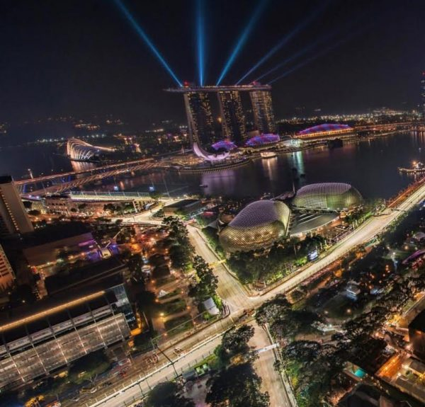 F1 2016 - SINGAPOUR - Vue aerienne du trace de MARINA BAY