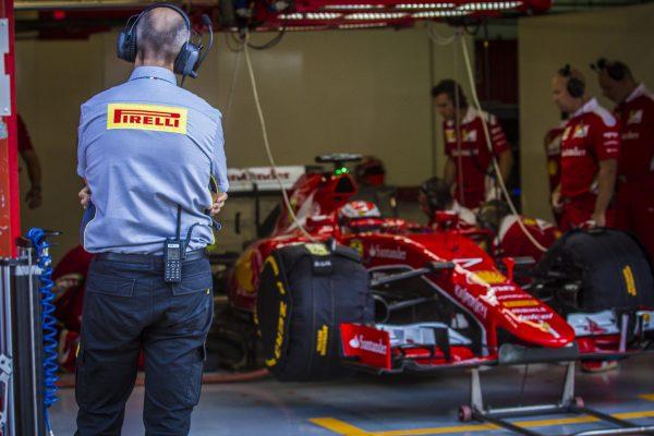 F1 2017 - LES TESTS DES PNEUMATIQUES 2017 PIRELLI SE POURSUIVENT EN ESPAGNE AVEC FERRARI.et KIMI R
