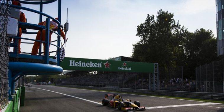 GP2 2016  MONZA -Antonio GIOVINAZZI remporte la 1ére course samedi 3 septembre en etant parti dernier