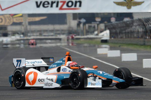 INDYCAR 2014 - GP INDIANAPOLIS Simon PAGENAUD avec sa DALLARA de chez SAM SCHMIDT PETERSON