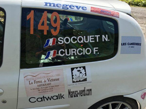RALLYE MONT BLANC 2016- NICOLAS SOCQUET et FIONA CURCIO