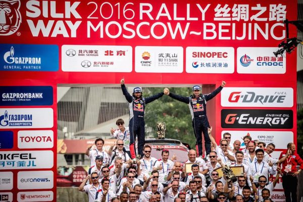SILK WAY RALLY 2016 VICTOIRE à PEKIN pour le 2008 DKR PEUGEOT de DESPRES CASTERA