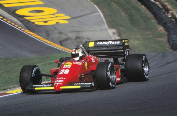 Stefan JOHANSSON-FERRARI GP d'EUROPE 1985 à BRANBDSS HATCH