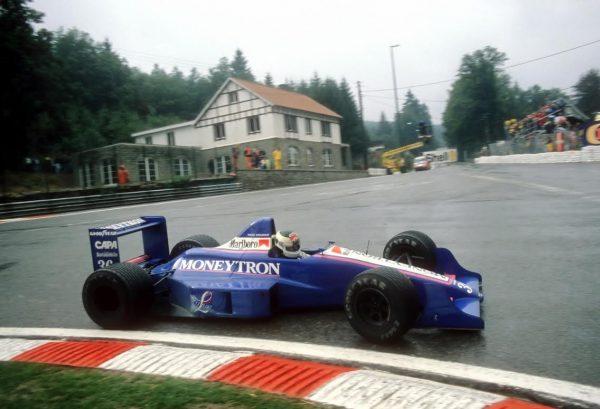 Stefan JOHANSSON-Moneytron au GP de BELGIQUE à FRANCORCHAMPS en 1989-© Manfred GIET.
