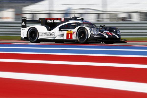 WEC 2016 AUSTIN - La Porsche 919 Hybrid de Timo Bernhard, Brendon Hartley, Mark Webber.