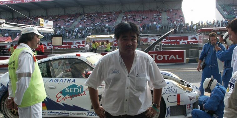 Iestoshi KANEKO aux 24 Heures du MANS avec la PORSCHE de son Team