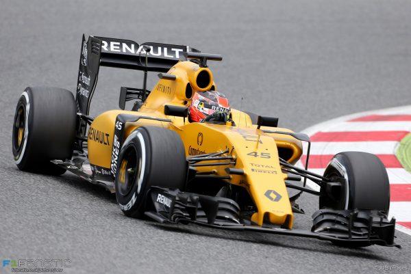 F1 2016 ESTEBAN OCON au volant de la RENAULT RS16 en essai.j