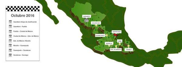 PANAMERICANA 2016 - La carte du parcours.