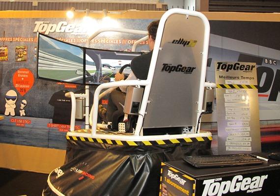 Stand TOP GEAR... simulateur avec Loic DEPAILLER comme instructeur !