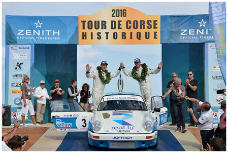 TOUR-de-CORSE-HISTORIQUE-2016-VICTOIRE-à-PORTO-VECCHIO-pour-la-PORSCHE-CARRERA-RS-de-ROMAIN-DUMAS-et-DENIS-GIRAUDET