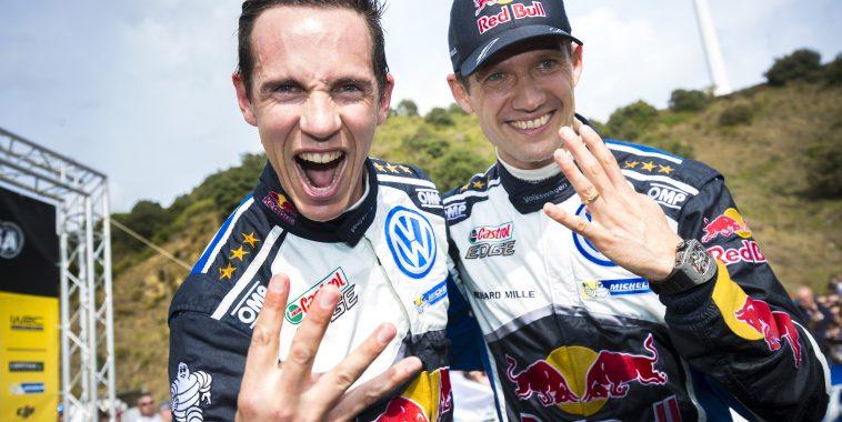 Julien Ingrassia (F), Sébastien Ogier (F) Volkswagen Polo R WRC (2016) WRC Rally Catalunya 2016 Photo: Helena El Mokni
