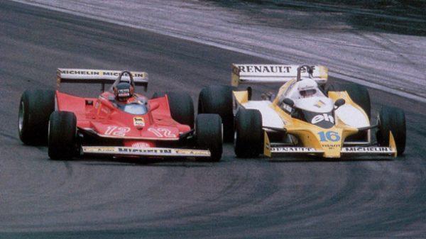 F1-1979-GP-de-FRANCE-la-Bataille-entre-la-FERRARI-de-Gilles-VILLENEUVE-et-la-RENAULT-Turbo-de-René-ARNOUX